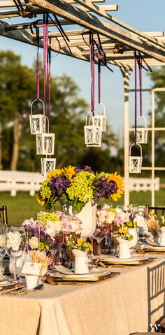 Lanterns, blooms and rustic accents are what makes this reception come alive! See how to create your own perfect country wedding within the pages of our Equestrian Love Style Lookbook: http://issuu.com/weddingstar/docs/weddingstar-equestrian-love-lookbook