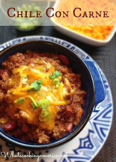 Chile Con Carne - Contest winning recipe!    whatscookingamerica.net  #chile #beef #beans #stew #chili #slowcooker #crockpot