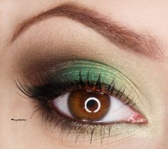St. Patrick's Day Makeup Idea! Just a hint of green