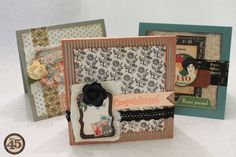 Always needing a card at the last minute? Try this great idea from Denise Hahn! Making cards with just 10 supplies - and then store them for those last-minute moments that require a great handmade card! #cardmaking #graphic45
