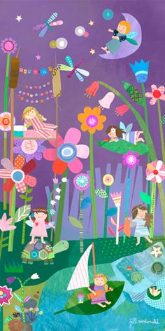 Super cute Nighttime Fairies Canvas