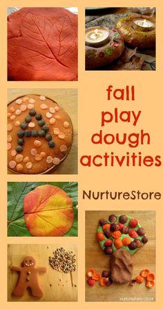 Lovely idas for fall play dough activities