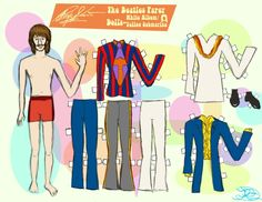 Ringo Starr paper doll / @deviantART
