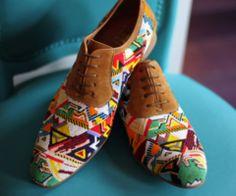 #fashion - tribal printed brogues