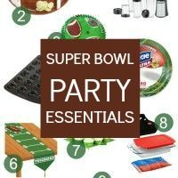 Superbowl party supplies