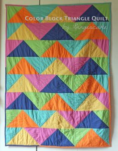 Gingercake Triangle Quilt