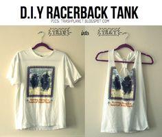 DIY Racerback Tank Top - http://diyideas4home.com/2014/01/diy-racerback-tank-top/