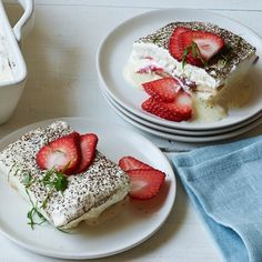 Strawberry-Basil Tiramisu