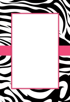 Free #Printable Customizable Zebra Stripes #Party Invitation