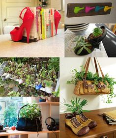 Reutilizar sapatos e bolsas books, hot shoes, bookends, red shoes, offic, heels, old shoes, diy projects, stiletto