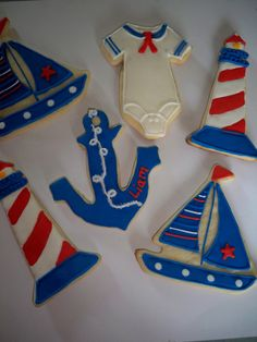 Nautical Theme Cookies by pinzy4 on Etsy, $22.00