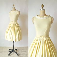 1960s Betty Barclay Dress  Vintage Yellow Day by DalenaVintage, $125.00