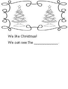 We Like Christmas Emergent Reader