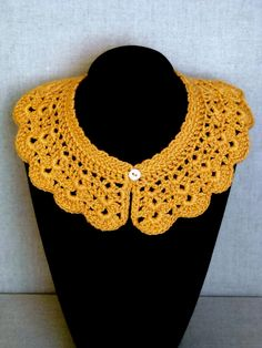 Crochet collar  Pattern is on Rav.  Now I just need to learn to read crochet patterns!!