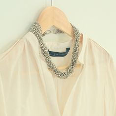DIY ball chain necklace! love it