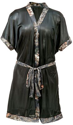 mossy oak camo stuff for women | Women's Short Robe With Mossy Oak Camo Accents - HuntSmart