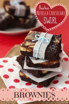 Flourless Nutella Cheesecake Swirl Brownies | cupcakesandkalechips.com | #chocolate #dessert #glutenfree