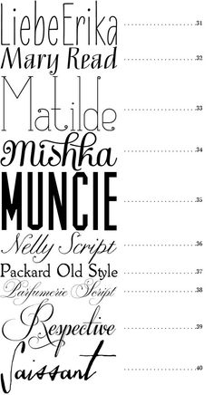 50 Fonts | Snippet & Ink