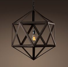 Steel Polyhedron Medium Pendant