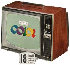 Finally got a color TV when I was in high school...mid 60's