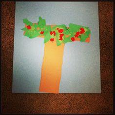 Letter T~ Apple Tree