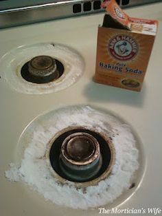 how to clean your burner rings!  I will try this.  I have also tried oven cleaner but that stinks!