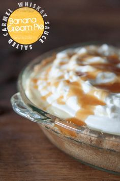 Banana Cream Pie with Salted Whiskey Caramel Sauce