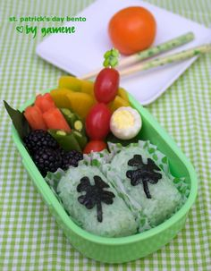 St. Patrick's day bento...YUMMY for Mommy :)