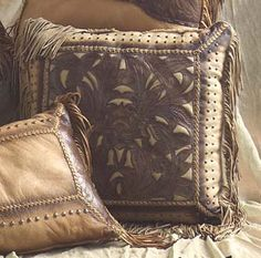 western pillows | Western Home  Western Decor  Western Decor Pillows  Rustic Leather ...