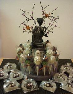 Halloween Themed Cake Pop centerpiece