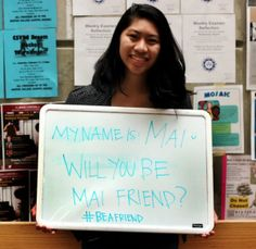 "#BeAFriend - Members of the Asian Caucus of Boston College, University Counseling Services, the Office of Health Promotion and the National Asian American Pacific Islander Mental Health Association worked together to ""break the silence"" and fight a stigma of mental health in the BC Asian community with ""Silver Week"""