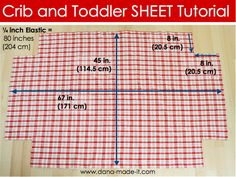 DIY crib sheet...how easy!! Measure the mattress, cut the corners, hem and sew in elastic....should have thought about that before!!