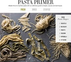 Pasta Guide to Pasta Shapes & which sauces work best for the different types of pasta | Williams-Sonoma