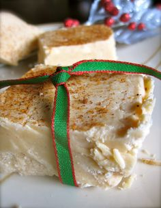 holiday, christmas time, remember this, eggnog fudg, fudge recipes, butter, white chocolate, kitchen, egg nog