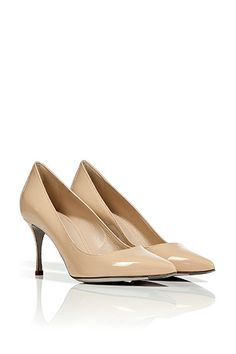 Nude Patent Calf Leather Pumps by SERGIO ROSSI