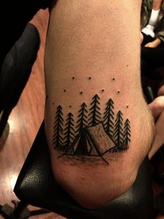 """Poked camp ground for ty."" in Tattoo"