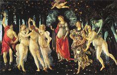 Primavera,1478, tempera, Sandro Botticelli