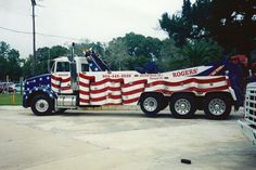 Flag Tow Truck..