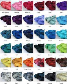 Tanis Fiber Arts hand dyed yarn