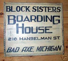 Bad Axe Michigan sign