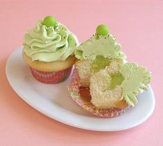 Key Lime Frosted Cupcakes