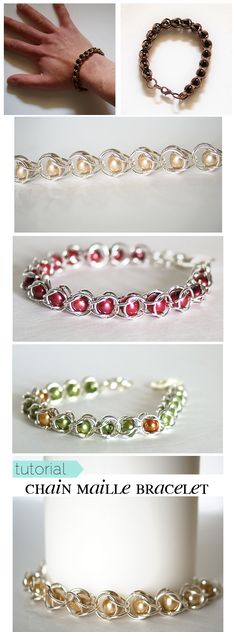 Chain Maille #Bracelet Tutorial at @savedbyloves...