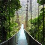 Costa Rica -Monterverde, better known as themonteverde-cloud-forest-reserve-suspense-bridge Reserva Biologica Bosque Nuboso Monteverde, is a very small town in the province of Puntarenas, in the Mountain Range of Tilaran