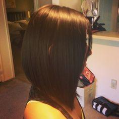 Long bob haircut..i kinda want this.