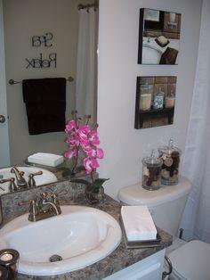 Beach spa themed bathroom on pinterest beach bathrooms for Spa themed bathroom ideas
