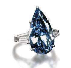 The Blue Magic Diamond, cut from the Hope Diamond, belonging to King Louis XIV