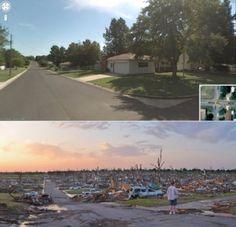 Joplin, MO - before and after a tornado