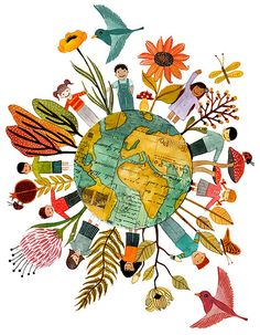 Geninne D Zlatkis worldly illustration