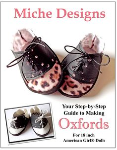 Oxfords Shoe Pattern, Download and make doll shoes today!