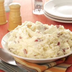 Garlic Mashed Red Potatoes - Full of so much flavor! And easy! I used real parmesan cheese, not the stuff you get from the container.